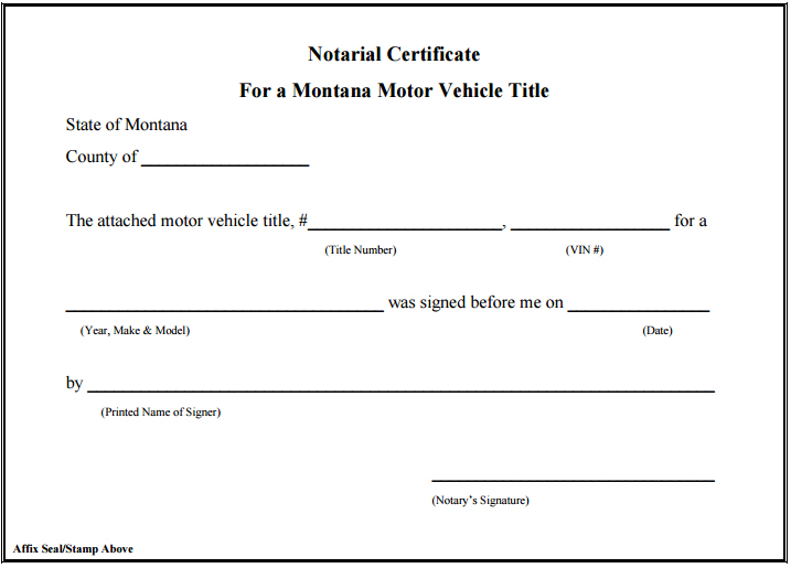 graphic about Printable Notary Forms known as MONTANA NOTARY General public Guide