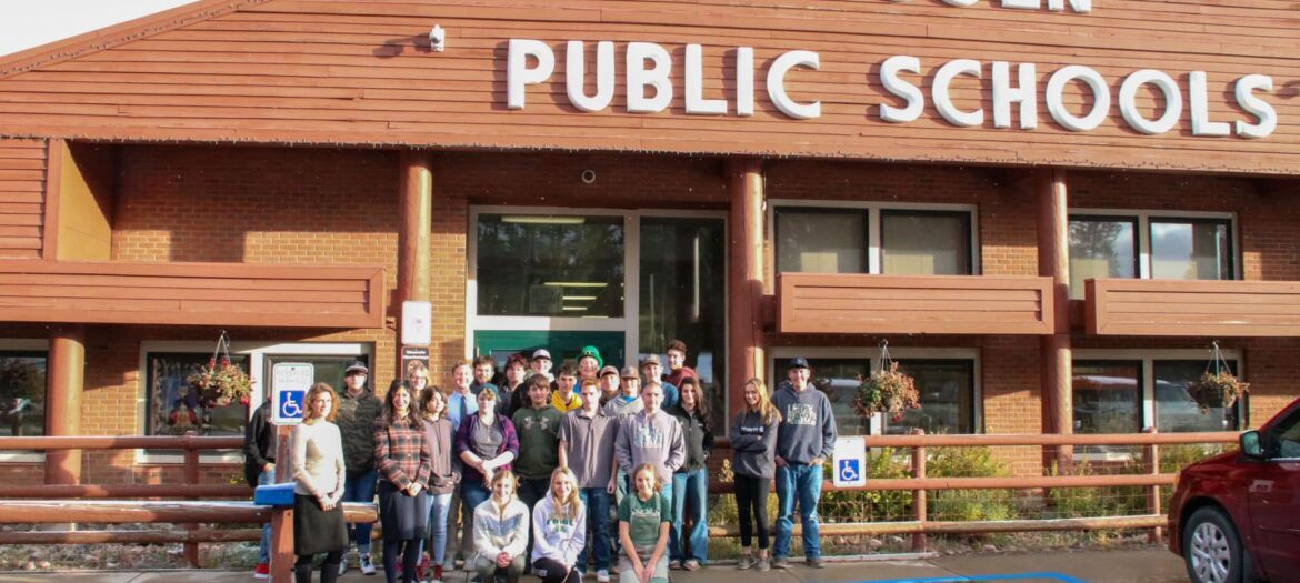 Montana Secretary of State Christi Jacobsen delivered United States and Montana Constitutions to students at Lincoln High School.