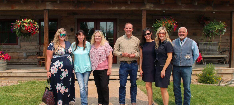 Montana Secretary of State Christi Jacobsen visited Philipsburg businesses on July 15, 2021.