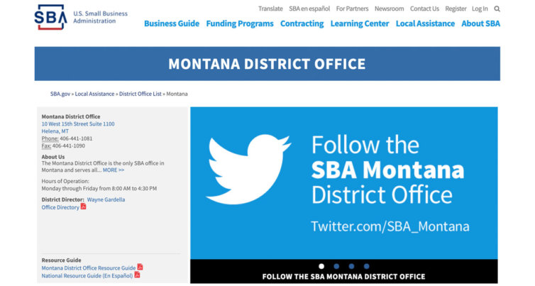 Montana District Office for Small Business Association
